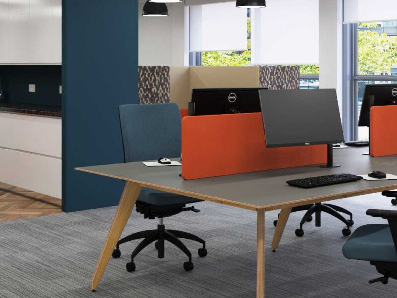 Wooden Bench Desking