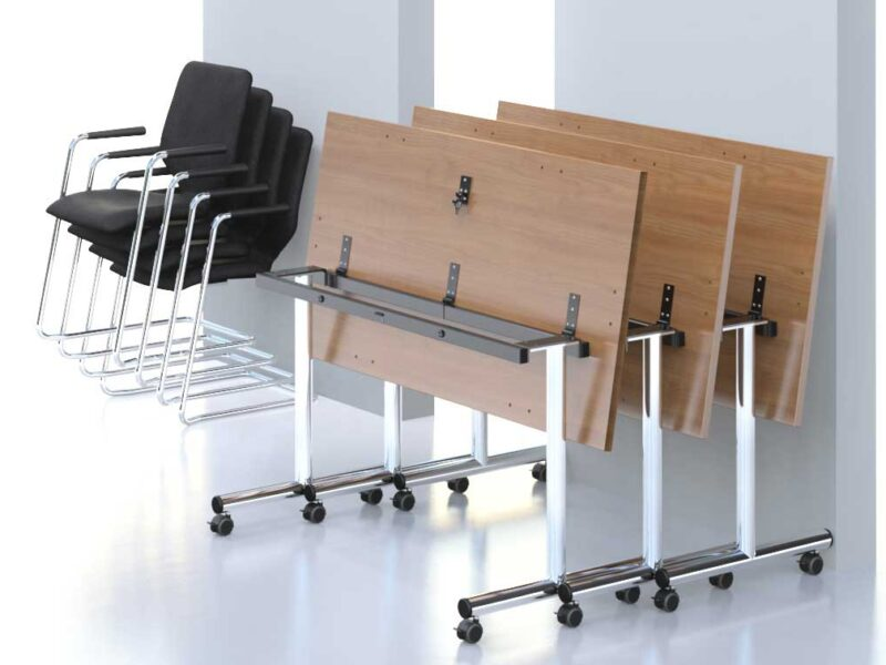 Flip Top Office Table Space Saving