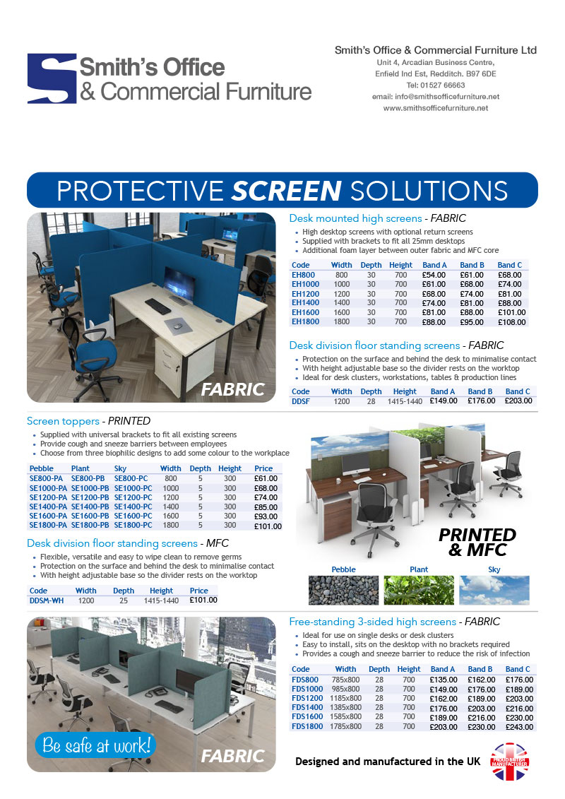 Smiths Covid 19 Screens